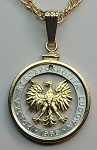 "Polish ""Eagle"", Coin Necklaces, Beautifully Cut out & 2-toned"