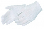 Light Weight White Cotton Gloves - Woman's- Size 7 - One Pair