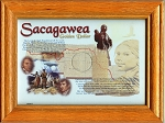 Oak Frame Sacagawea Dollar -  Single Coin