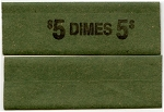 Flat Coin Wrappers - Dime - $5.00 - 100 Count