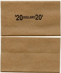 Flat Coin Wrappers - LARGE DOLLAR - $20.00 - Box 1,000