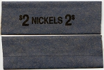 Flat Coin Wrappers - NICKELS - $2.00 - 100 Count