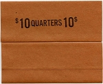 Flat Coin Wrappers - QUARTER - $10.00 - 100 Count