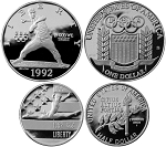 1992 XXV Olympic  2 Coin Set Proof