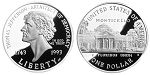 1993-S Thomas Jefferson Silver Dollar Proof