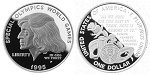 1995-P Special Olympics  Silver Dollar Proof