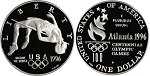 1996-P Olympic High Jump  Silver Dollar Proof