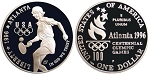 1996-P Olympic Tennis  Silver Dollar Proof