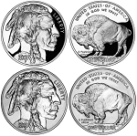 2001 American Buffalo Silver Dollar 2-Coin Set Uncirculated/Proof