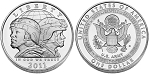 2011-S U.S. Army Silver Dollar Uncirculated