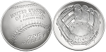 2014-P Baseball Hall Of Fame Silver Dollar Uncirculated