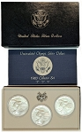 1983 P-D-S Olympic Silver Dollar  3 coin set  Uncirculated