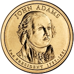 2007-D John Adams Dollar Uncirculated
