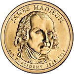2007-D James Madison Dollar Uncirculated