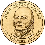 2008-D John Quincy Adams Dollar Uncirculated