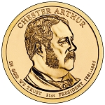 2012-P Chester A. Arthur Dollar Uncirculated