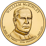 2013-P William McKinley Dollar Uncirculated