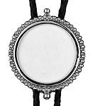 Bolo Tie for U.S. Silver Dollar, Silver Plated Bezel - Made In USA