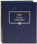 Whitman Classic Half Cent Coin Album 1793 to 1857