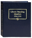 Whitman Classic Standing Quarter Coin Album 1916 to 1930