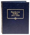 Whitman Classic Eisenhower Dollar Coin Album 1971 to 1978