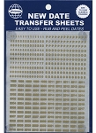 Whitman Classic Date Transfer Sheets Gold Text