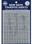 Whitman Classic Date Transfer Sheets Black Text