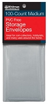 Whitman PVC Free Storage Envelopes - Medium - Package of 100