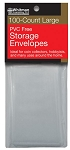 Whitman PVC Free Storage Envelopes - Large - Package of 100