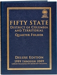 Whitman Fifty State Commemorative State Quarter Folder - 1999-2009 P & D Mint Deluxe Edition