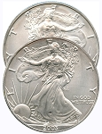 2003 Double-Sided Heads Silver American Eagle