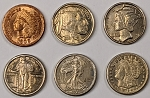 Nostalgia Miniature 6-Coin replica United States Coin Set