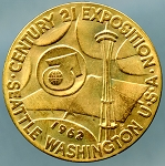 US Seattle World's Fair Century 21 Exposition Medal 1962