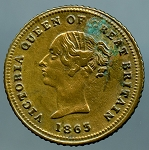 1863 Half Sovereign - Victoria Prince of Wales Token
