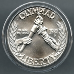 1988-D Olympic Commemorative Silver Dollar - Uncirculated