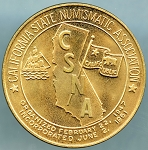 1984 California State Numismatic Association 75th. Anniversary Token