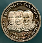 Landing on the Moon 20th January 1969 Medal