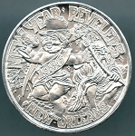 Sugar Bowl Classic 1986 Miami vs Tennessee Mardi Gras Doubloon