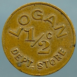 Logan Department Store Half Cent Good For Token