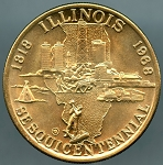 1968 Illinois 150th Anniversary Medal