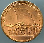 1970 Missouri Gateway to the West 150th Anniversary Medal