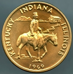 1969 Lincoln Heritage Trail Medal