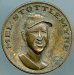 1969 Citgo Baseball Centennial Series Coin Mel Stottlemyre New York Yankees