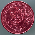 1986 Myths, Monsters & Legends Mardi Gras Token