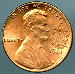 Boy Scouts of America Counterstamped Lincoln Cent