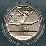 1992-P Olympic Half Dollar - Uncirculated in Mint Capsule