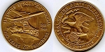 1968 Illinois Sesquicentennial Medal Covered Wagon/Airplane Variety - Bronze