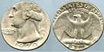 1970-D Washington Quarter Error - Wrong Planchet - Struck on Dime Mint State