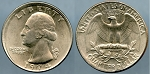 1974 Washington Quarter - Error - Broadstrike Mint State
