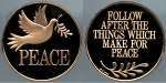 1986 Franklin Mint - Peace Dove - Holiday Bronze Medal Proof - In Air-Tite Capsule